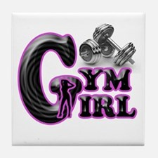 Gym Girl Design 1c Tile Coaster