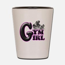 Gym Girl Design 1b Shot Glass