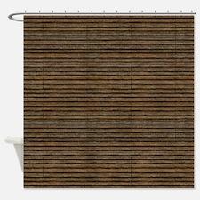 Decrepit Slats Shower Curtain