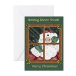 Santa At the Window Christmas Cards (Pk of 20)