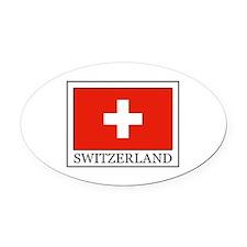 Switzerland Oval Car Magnet