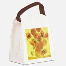 Van Gogh Sunflowers Canvas Lunch Bag