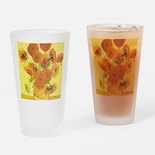 Van Gogh Sunflowers Drinking Glass