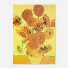 Van Gogh Sunflowers 5'x7'Area Rug