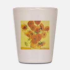 Van Gogh Sunflowers Shot Glass