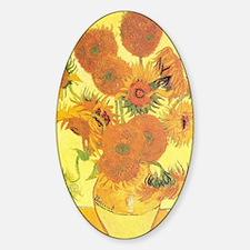 Van Gogh Sunflowers Sticker (Oval)