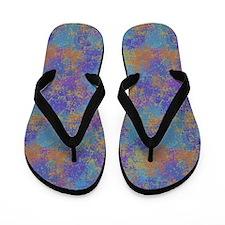 Colored Imprints Flip Flops