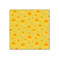 """Cheese Section Square Sticker 3"""" x 3"""""""