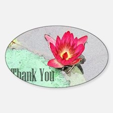 pink waterlily flower thank you Decal