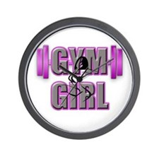 Gym Girl Design 4 Wall Clock