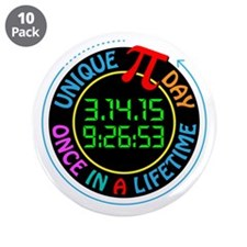 "Unique Pi day 2015 3.5"" Button (10 pack)"