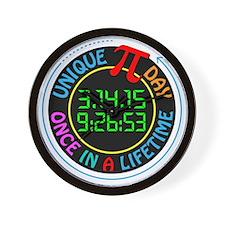 Unique Pi day 2015 Wall Clock