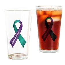 SOD Awareness Ribbon Drinking Glass