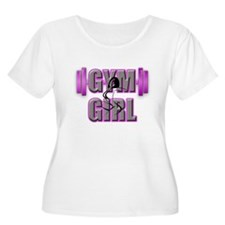Gym Girl Design 4 Plus Size T-Shirt
