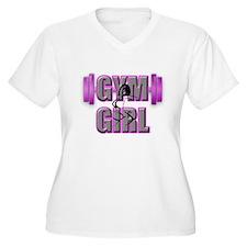 Gym Girl Design 4 Plus Size T-Shirt