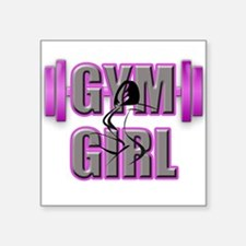 Gym Girl Design 4 Sticker