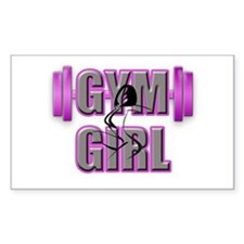 Gym Girl Design 4 Decal