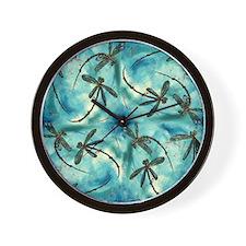 Dragonfly Cloud Wall Clock