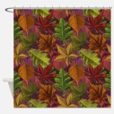 Scarlet Weed Shower Curtain