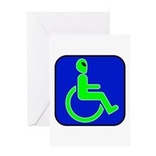 Handicapped Alien Greeting Card