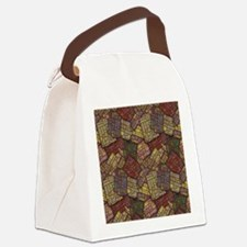 Mosaic Confusion Canvas Lunch Bag