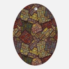 Mosaic Confusion Ornament (Oval)