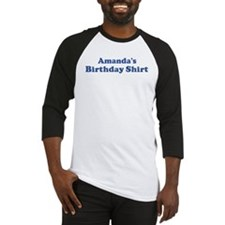 Amanda birthday shirt Baseball Jersey