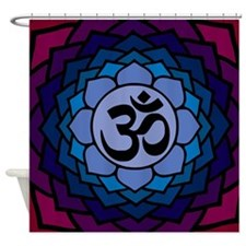 ohm02lotus Shower Curtain