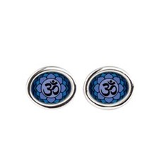 ohm02lotus Oval Cufflinks