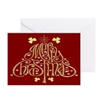 Merry Christmas Tree (Red) Cards (Pk of 20)