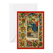 Medieval Illumination Christmas Cards (Pk of 20)