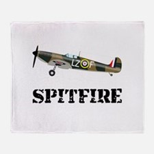 Submarine Spitfire Airplane Throw Blanket