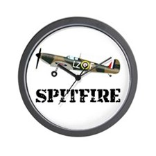 Submarine Spitfire Airplane Wall Clock