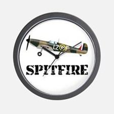 Submarine Spitfire Airplane Wall Clock