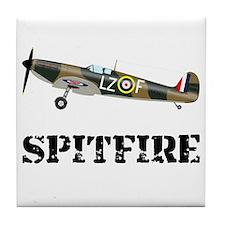 Submarine Spitfire Airplane Tile Coaster