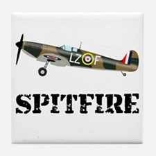 Submarine Spitfire Airplane Tile Coaster