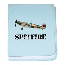 Submarine Spitfire Airplane baby blanket