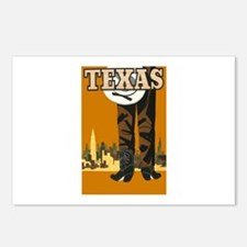 Texas Vintage Travel Poster Postcards (Package of
