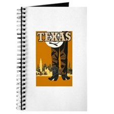 Texas Vintage Travel Poster Journal