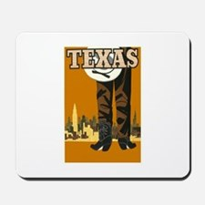 Texas Vintage Travel Poster Mousepad