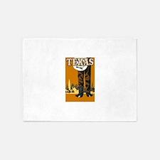 Texas Vintage Travel Poster 5'x7'Area Rug