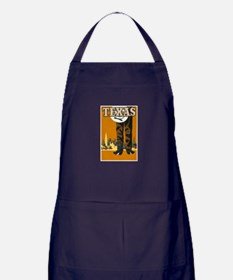 Texas Vintage Travel Poster Apron (dark)