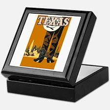 Texas Vintage Travel Poster Keepsake Box