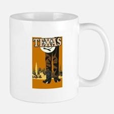 Texas Vintage Travel Poster Mugs