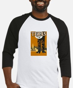 Texas Vintage Travel Poster Baseball Jersey