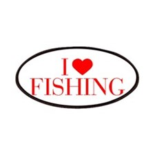 I love Fishing-Bau red 500 Patch