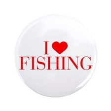 """I love Fishing-Bau red 500 3.5"""" Button (100 pack)"""