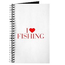 I love Fishing-Bau red 500 Journal