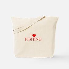 I love Fishing-Bau red 500 Tote Bag