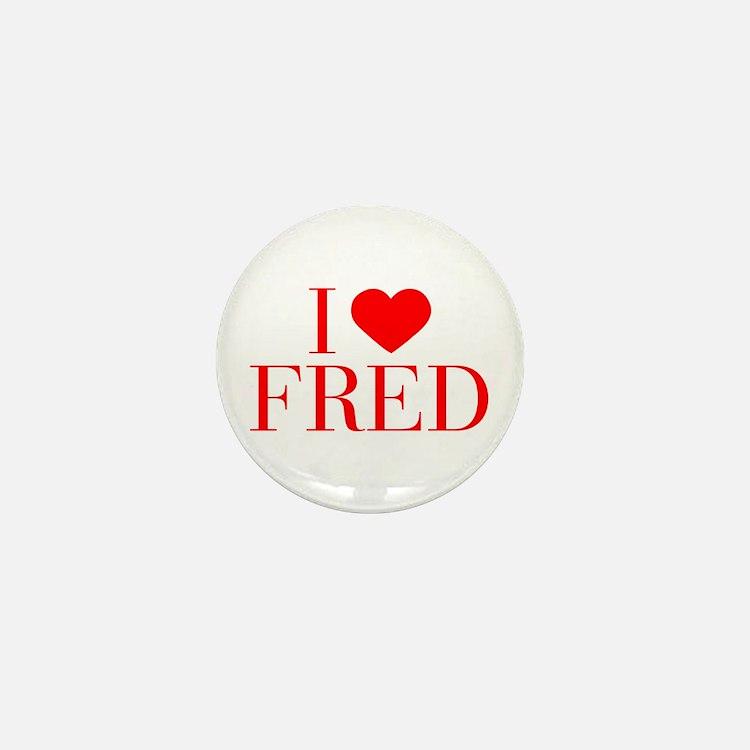 I love FRED-Bau red 500 Mini Button